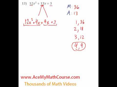 Polynomials - Factoring Trinomials (More Challenging) #13
