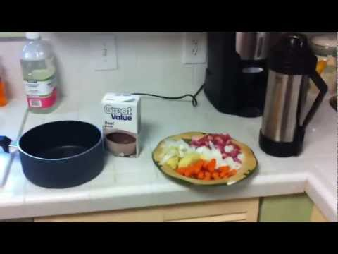 Thermos cooking (stew)
