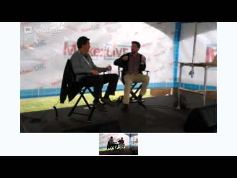 Peter Meehan and His Lucky Peach on Make: Live Stage at World Maker Faire 2012