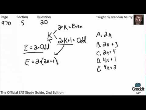 SAT Math Official Guide Sample Lesson (6/6)
