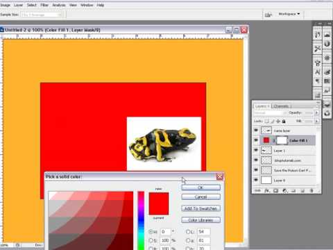 Photoshop Tutorial On How Too Use The Layers Part 2