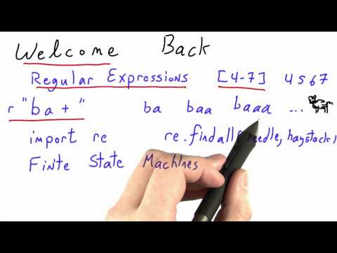 Welcome Back - CS262 Unit 2 - Udacity