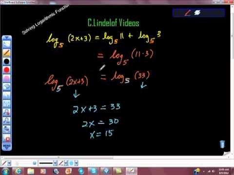 Solving a Logarithmic Function Pt II