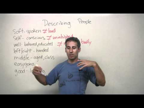 Vocabulary - 7 adjectives for describing people in English
