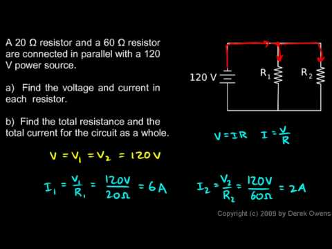 Physics 13.4.2e - Parallel Circuit Example