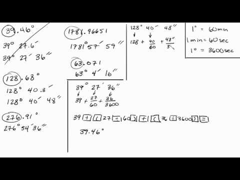 Trigonometry - Convert Decimals to Minutes and Seconds - Part 3 of 3 Intuitive Math Help