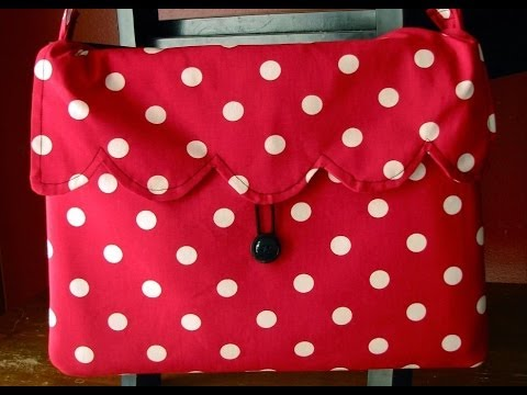 Scalloped Laptop Tote Tutorial