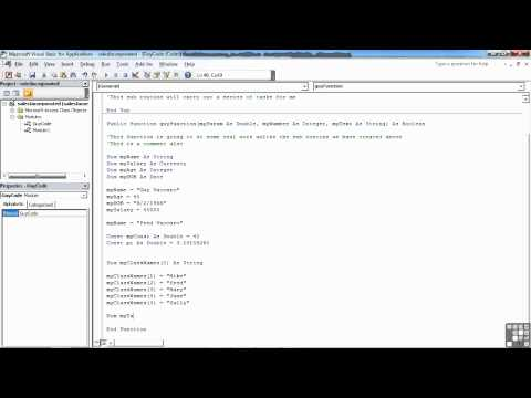 VBA for Access Tutorial | Creating and Assigning Array Values | InfiniteSkills Training Videos