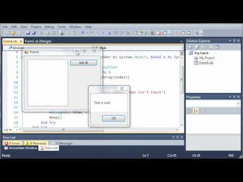 Visual Basic Tutorial - 136 - Finally Statement