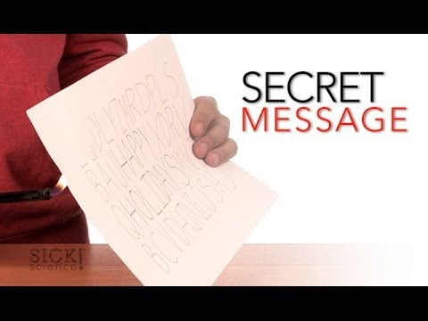Secret Message - Sick Science #070