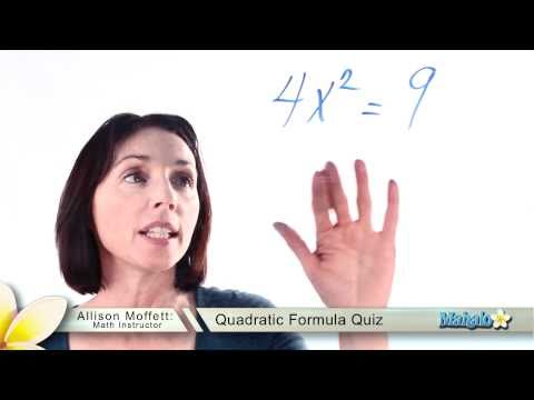 Quadratic Formula Quiz