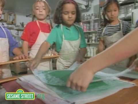 Sesame Street: Papermaking Class