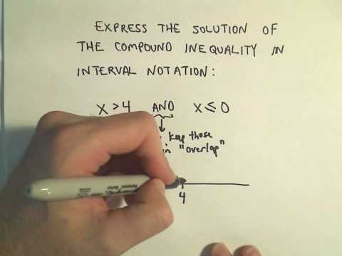 Writing Compound Inequalities Using Interval Notation - Example 3