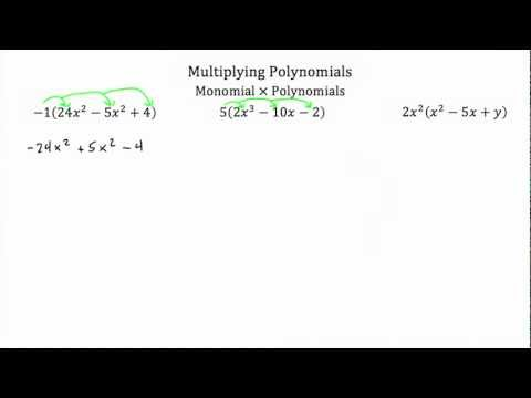 Operations with Polynomials -Multiplying PT 1 -Textbook Tactics