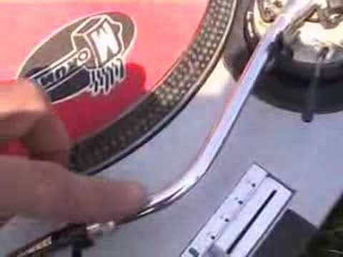 Video 5 for the total novice DJ, The tone arm