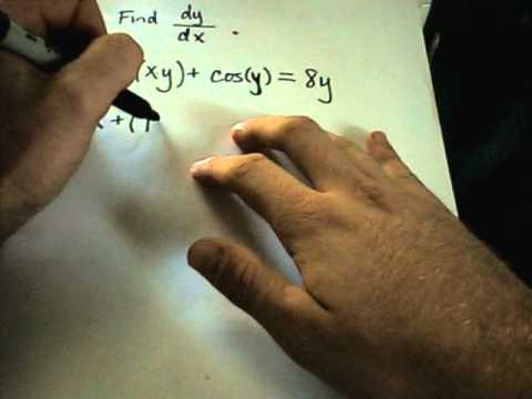 Using Implicit Differentiation to find a derivative