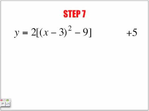 Steps to Completing the Square Part 2