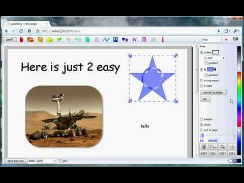Using j2e to create a web page
