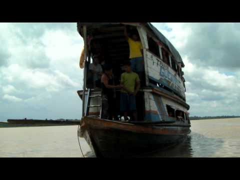 overloaded river boat docking
