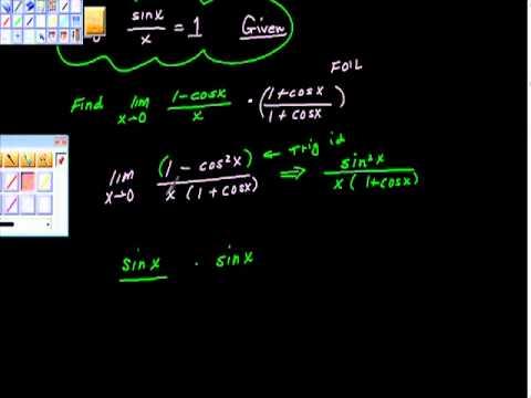 Special Trig Limits Ap Calculus AB Pt I