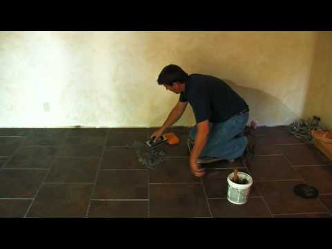SnapStone Porcelain Tile Installation - Grouting Tile