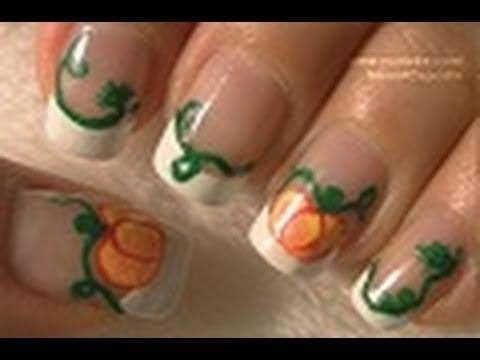 Pumpkin Nail Art Tutorial / Arte para las uñas de Calabaza