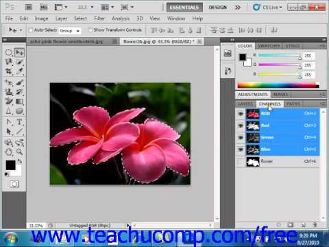 Photoshop CS5 Tutorial Saving & Loading Selections Adobe Training Lesson 7.12