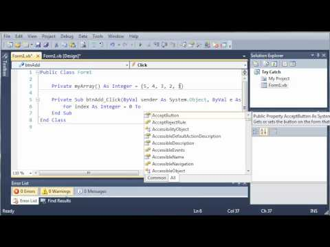 Visual Basic Tutorial - 133 - Introduction To Try   Catch