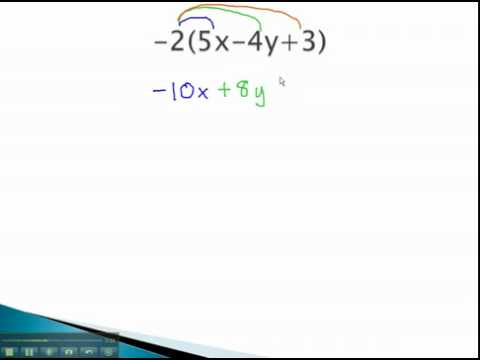 Simplify Algebraic Expressions - Distributive Property - YouTube.mp4