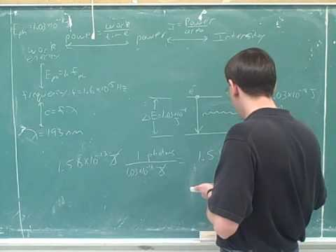 Quantum numbers. Intensity, photons (9)