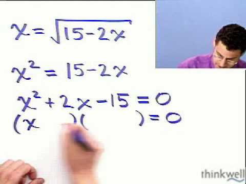 Solving an Equation Containing a Radical, Part 1 of 2, from Thinkwell Precalculus