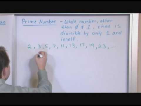 Prime Numbers (Pre-Algebra Tutor @ MathTutorDVD.com)