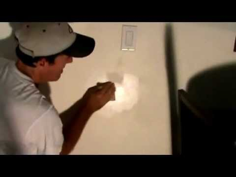 Tricks for touching up a wall