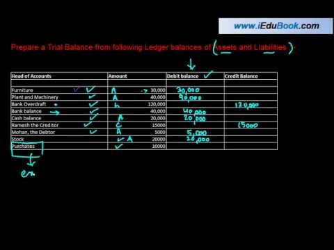 Trial Balance - Meaning  and Two method of preparing Trial balance - Class XI Accounts