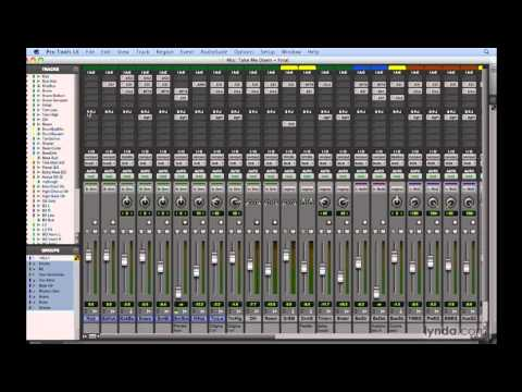 Pro Tools: Working with mixer signal flow | lynda.com tutorial