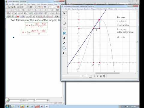 "tangent line calculation: ""x-a"" versus ""h"""