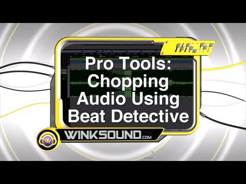 Pro Tools: Chopping Audio Using Beat Detective | WinkSound