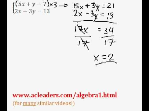 System of Equations - Solving by Addition/Elimination (pt. 7)