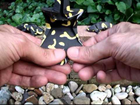 Origami Fire Salamander