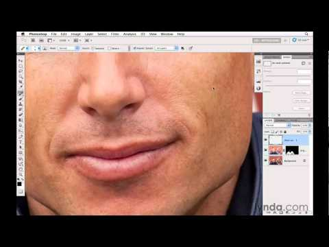 Removing facial flaws in a photograph | lynda.com tutorial