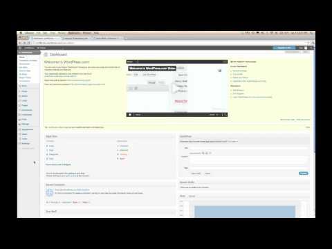 Wordpress.com: How to make a static home page