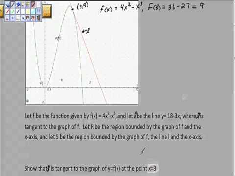 Prove a Line is Tangent to a Function AP Caclulus Free Response