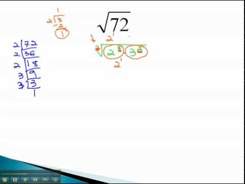 Simplify Radicals - Not Perfect - YouTube.mp4