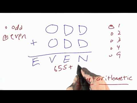 Odd Or Even Solution - CS212 Unit 2 - Udacity