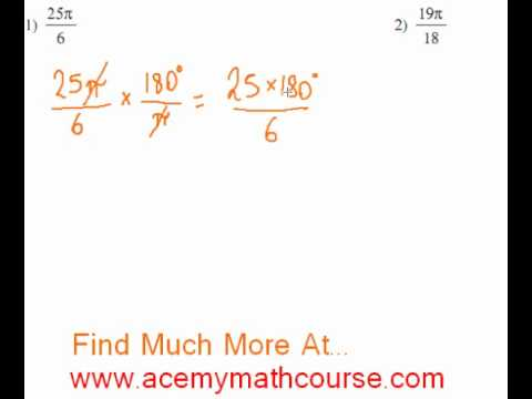 Trigonometry - Radians To Degrees Part 1
