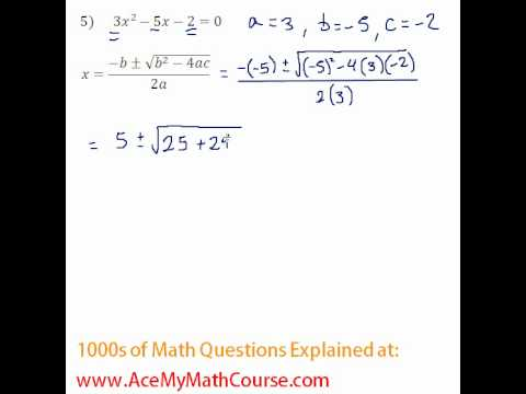 Quadratic Formula #5