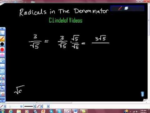 Square Roots in the Denominator Rationalizing