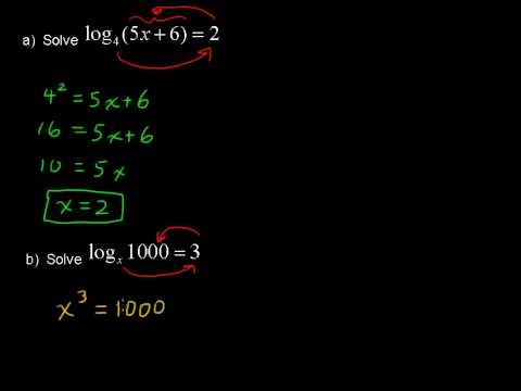 Solving Logarithmic Equations - College Algebra Tips