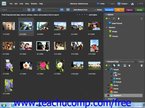 Photoshop Elements 9.0 Tutorial Assigning & Managing Tags Adobe Training Lesson 2.14