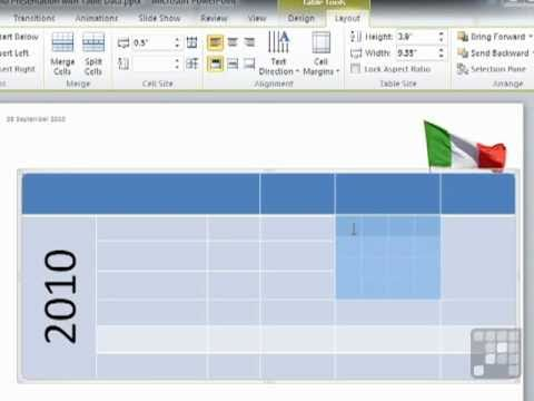 Powerpoint 2010 Tutorial - Merging Multiple Cells into One or Splitting One Apart